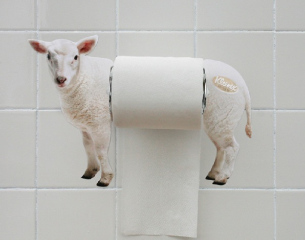 ambient-marketing-toilets-WC-kleenex-sheep-mouton-doux-extra-soft-sweet-1