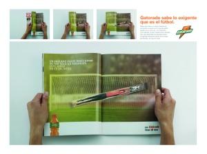 Campaña: Creativo aviso de revista de Gatorade